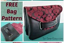 Bags, purses and totes patterns / An outstanding selection of free bag patterns, easy tote bags tutorials, purse sewing patterns or free wallet patterns. Includes all my favorite round up posts too with even more of the best bag sewing patterns! / by Deby at So Sew Easy