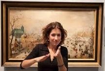 Sign language in art