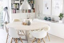 Dining room interiors / Room and seating for entertaining