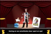 Kinderboekenweek 2013 voorstelling koning en nar ontwikkelen door sport en spel / Basisschool goochelaar Aarnoud Agricola uit Utrecht heeft een kinderboekenweekvoorstelling ontwikkeld voor de volgende kinderboekenweek, die wordt gehouden van 2 t/m 13 oktober. De titel van deze kinderboekenweekshow luid: 'Koning en nar ontwikkelen door sport en spel'. Deze 'klaar voor de start show' kan worden geboekt door basisscholen en bibliotheken in heel Nederland, http://www.goochelaar.biz