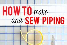 Bias Binding & Piping For Sewing / Tips and tricks to get the perfect binding and piping on your sewn garments and projects.