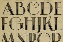 Fonts, letters