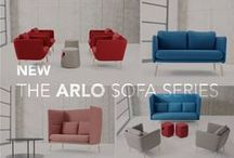 The Arlo Lounge Series / Designed by Most Modest and inspired by the way people interact in today's office environments, Arlo is a flexible, inviting sofa series that adapts to users as their needs shift throughout the day - providing maximum comfort and versatility.