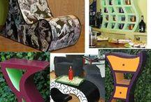 Всякие штучки и мебель из картона
