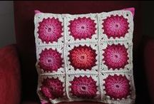 Granny squares, crocheted blocks