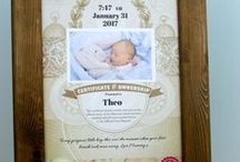 Birth of a child Gift / A gift or keepsake for any parent