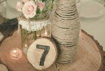 Tischdekoration / Schönes für die Hochzeitstafel. #Decoration #Wedding #DIY