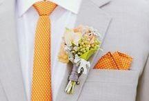 Blütencorsagen für den Bräutigam / Revers-Anstecker für den Bräutigam. #Hochzeit #Wedding #Groom #Styling #Flower