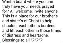 ♡ Prayer board ♡ / Our prayers are greater when raised in numbers, so let's do so & help others, and shoulder our fellow brothers and sisters in Christs burdens. You may invite anyone who professes Christ as their savior. God bless you all!