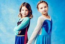 Mini & Me Elsa and Anna / Order on http://www.littlegloriana.com/dress-up-mini-me/