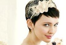 Brautfrisuren für kurzes und langes Haar / Frisuren zur Hochzeit. #Hairstyling #Wedding #Bride #BridalStyle