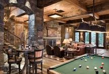 Man Caves / All about man caves. Turn that basement, that garage or spare family room into your special retreat!