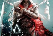 """Assassin's Creed / Assassin's Creed. Books by Oliver Bowden. Games by Ubisoft. """"Nothing is true. Everything is permitted."""" Read the books, play the games & you'll understand why millions of people are addicted to AC! Based on idea our DNA holds our ancestors' memories. ABSTERGO wants the treasure: Altair's Pieces of Eden. Curious how the history of Knights Templar got woven into this story. Hashashin, Assassins of the time, were believed NOT to have met the Templars. Saladin & the Turks (Ottoman Empire) were real."""