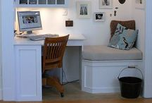 The Dream Office / Inspiration for office spaces.   Visit us at www.cabinetcottage.com