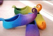 Felt, color decoration