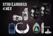Stud Earrings for Men / Stud earrings for men in a variety of styles and sizes.