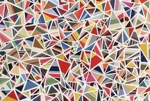 Rhombus Art / Abstract art using triangle and rhombus shapes / by Jilly Jack Designs