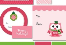 printable christmas gift tags, wraps & gifts / freebies and tutorials. all beautiful. all easy to make.