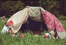 Camping / The more glamorous side of camping.. Lace teepees and extravagant set ups layered in bright tapestries and lovely decor