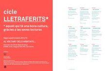 Exposicio cicle Lletraferits* - Cultura ETSAB / Llibres i revistes dels quals es farà presentació a l'ETSAB dins el seu cicle Lletraferits que durarà de febrer a juny 2015.  En tots ells hi hagut participació de professors i/o departaments de l'ETSAB.