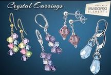 Crystal Earrings made with Swarovski Elements / Crystal Earrings Made with Authentic Swarovski Elements