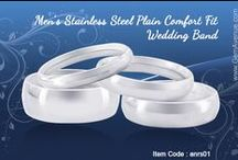 Men's Stainless Steel Plain Wedding Band / Stainless Steel Rings collections from Gem Avenue Jewelry Store in Charlotte NC  - US