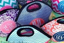 Monogrammed Lunch Totes