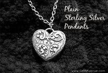 Plain Sterling Silver Pendants