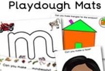 Play Dough / Play doh - Teaching Ideas - Activities / Mats - Art & Crafts for Children. / Playdough mats for the classroom.