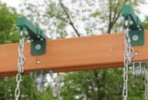 Swing Set Hardware / The best A Frame Brackets, swing hangers, tire swivels and more.