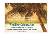 Wedding Invitation Ideas / A variety of wedding invitations that can easily be personalized to suit the theme of your wedding. You will find rustic styles, tropical beach destination themes, elegant watercolor floral designs and many more!