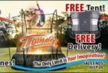 Vuly Trampolines / Eastern Jungle Gym is now selling Vuly Trampolines online at www.easternjunglegym.com. Vuly trampolines are not just fun -- they're extremely safe! These trampolines use leaf springs instead of coil springs, so there's no need to worry about the little ones hitting a hard frame or hurting themselves on the springs. The rust-resistant frame is designed to last for years to come, and the secure safety net will support your child as he or she bounces around.
