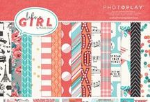 Like a Girl collection / The Like a Girl scrapbook paper collection from Photo Play Paper.