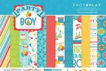 Party Boy by Samantha Walker / All about the Party Boy collection of scrapbooking papers by Samantha Walker for Photo Play Paper.