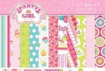 Party Girl by Samantha Walker / Projects and information about the Party Girl collection of scrapbooking paper by Samantha Walker from Photo Play Paper.