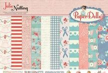 Paper Dolls by Julie Nutting / Paper Dolls collection of scrapbook and craft paper by Julie Nutting for Photo Play Paper