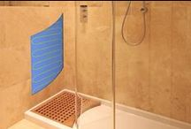 Electric Shower Wall & Floor Heating / What could be better than a heated shower floor and walls? No more cold tiles and showers dry quickly without damp smells.  The ultimate comfort accessory for any wetroom shower enclosure?