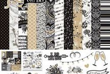 """We Do collection / Celebrate """"I do"""" and the start of a lifetime together with the classic patterns and designs of the We Do collection by PHOTO PLAY PAPER. Set in a neutral palette of rich black and crisp white, along with accents of warm gold, these papers and embellishments are perfect to pair up with any color a bride chooses. Capture all of the memories of the day you said, """"We Do!"""""""