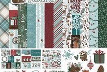 Winter Meadow by Becky Fleck / The cute and cozy forest friends in, Winter Meadow, will add whimsy and charm to all of your winter pages and cards. Perfect for holiday projects, too!
