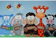 Kinderschilderijen / Unieke, Vrolijke, Leerzame Schilderijen voor Kinderen