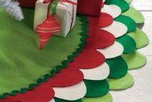 Christmas Tree Skirts / Christmas tree skirts ideas from fabrics