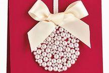Natal - Ideias / Enfeites, decoração, convites, bijuterias inspiradas no Natal, feitos com pendentes de lustre, pérolas, pedrarias,  miçangas e muito mais! www.beadshop.com.br