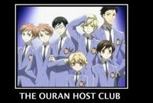 "Ouran High School Host Club / Kyoya Ootori, Tamaki Suou, Takashi Morinozuka, Mitsukuni Hanunizuko, Haruhi Fujioka, Hikaru Hitachiin, Kaoru Hitachiin  ""Besides, it doesn't really matter, does it? Why should I care about appearances and labels anyway? It's on the inside that counts.""-Haruhi Fujioka"