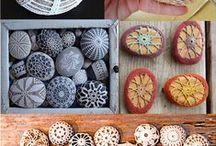 Rocks / painting rocks, crocheting rocks...
