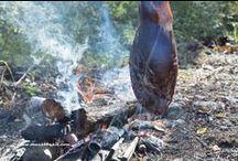 Outdoorkooking / Gerechten welke buiten zijn bereid, boven open vuur, of in een pizza oven