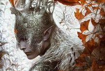 Elves+Fire/Barbarians/Blood        /   Warlock/        Demonic
