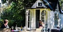 Shabby Chic Sleepout / This sleepout was built entirely with recycled materials, including french doors and leadlight windows from Musgroves.  Get your reclaimed building materials from https://www.musgroves.co.nz/