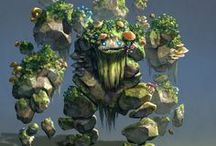 Earth elemental+Forest/Forest+Water/          Swamp