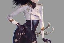 ``Swordsman/Fencer(Light armor/Cloth+Sword/Rapier)+            /(Aristocrat/Young man)