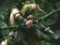 ``Archer(Cloth+Bow+Night/Forest/Forest+Night/Forest+Fire/Night+              Fire)+